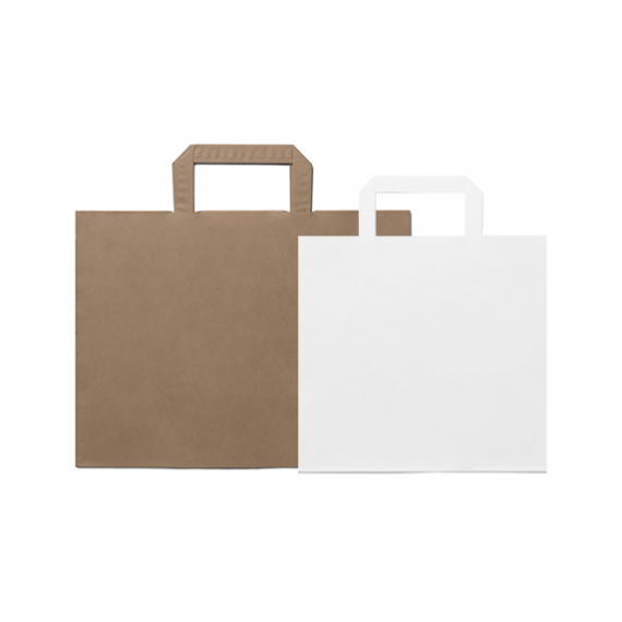 Folded Handle Wide Base Paper Bags