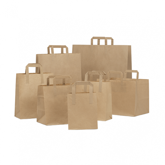 Brown Folded Handle Paper Bags