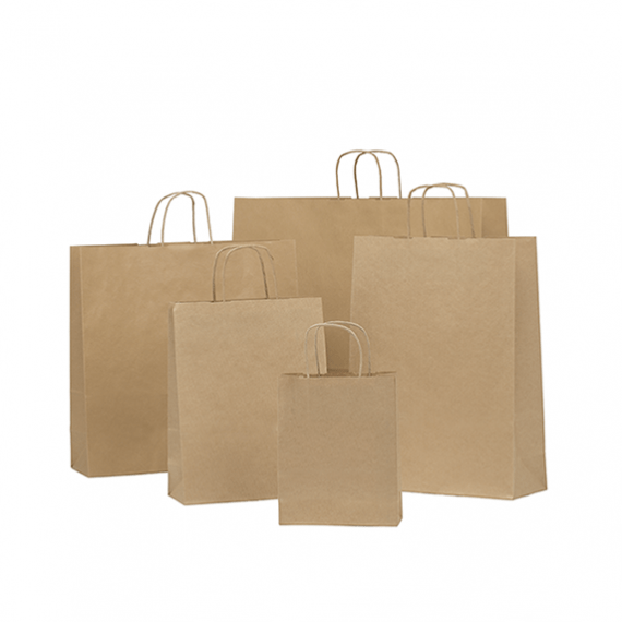 Brown Twisted Handle Paper Bags