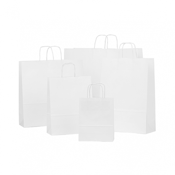 White Twisted Handle Paper Bags