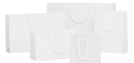 White Matt Laminated Rope Handle Paper Bags