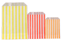 Candy Stripe Paper Bags