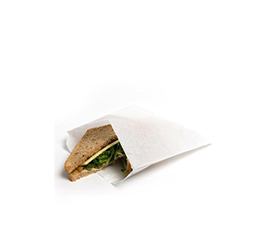 Greaseproof White Paper Bags