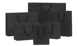 Black Matt Laminated Rope Handle Paper Bags