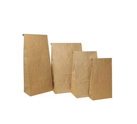 Brown Block Bottom Kraft Bags