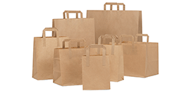 Brown Kraft Folded Handle Paper Bags