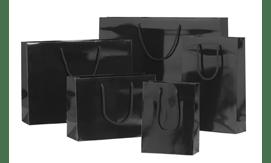 Black Gloss Laminated Rope Handle Paper Bags
