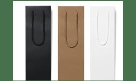 White Matt Laminated Ribbon Gift Bags