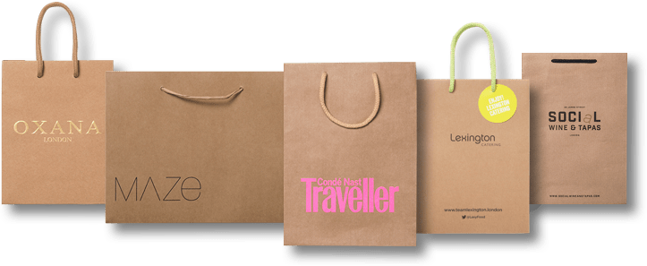169f308224c Luxury Kraft Paper Bags made from Recyclable Brown Paper MOQ - 100 bags