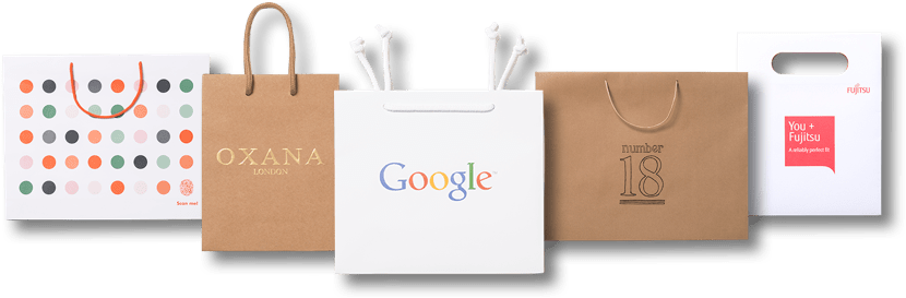 756e4de613b Luxury Unlaminated Paper Bags
