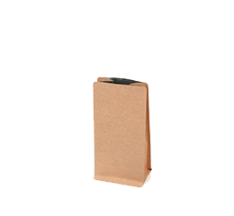 Kraft Flat Bottom Bag (Box Pouch) with valve