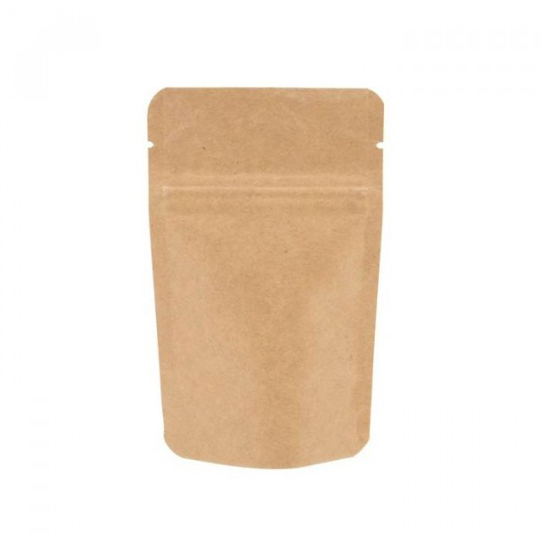 Kraft Stand Up Pouch (Doypack) with zipper by Paper Bag Co f617002170cb2