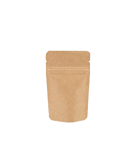 Kraft Stand Up Pouch (Doypack) with zipper
