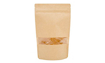 Kraft Stand Up Pouch (Doypack) with zipper and window