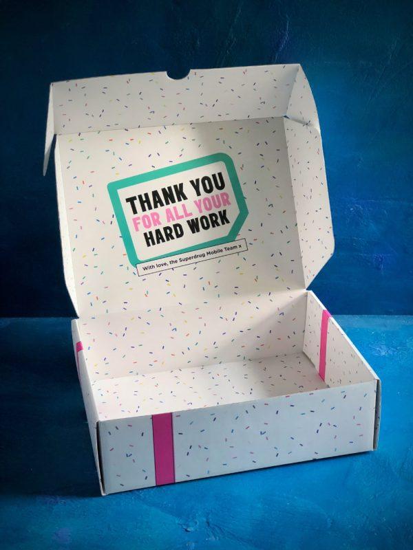 Bespoke Superdrug Mailing Box