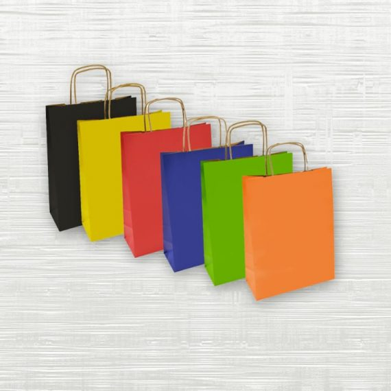 *Clearance* Coloured Twisted Handle Bags