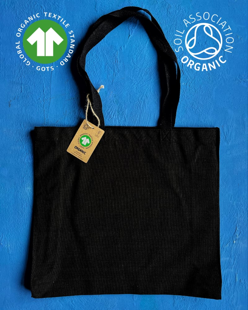 GOTS Organic 10oz Black Canvas Bags – Landscape