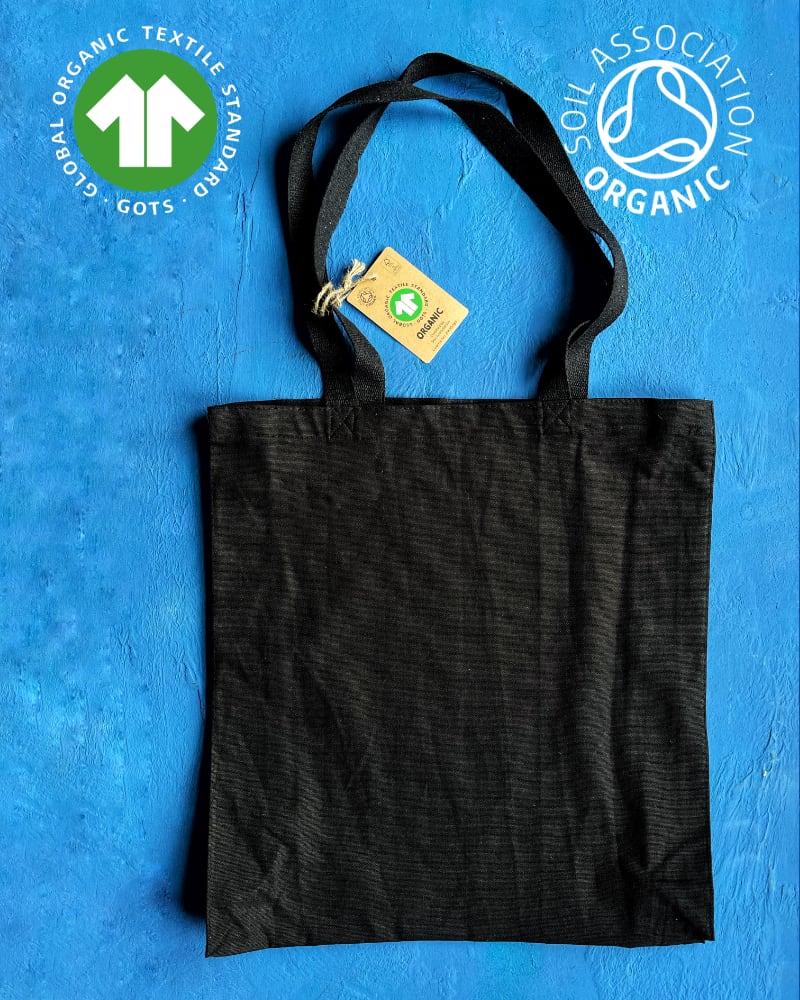 GOTS Organic 10oz Black Canvas Bags – Portrait