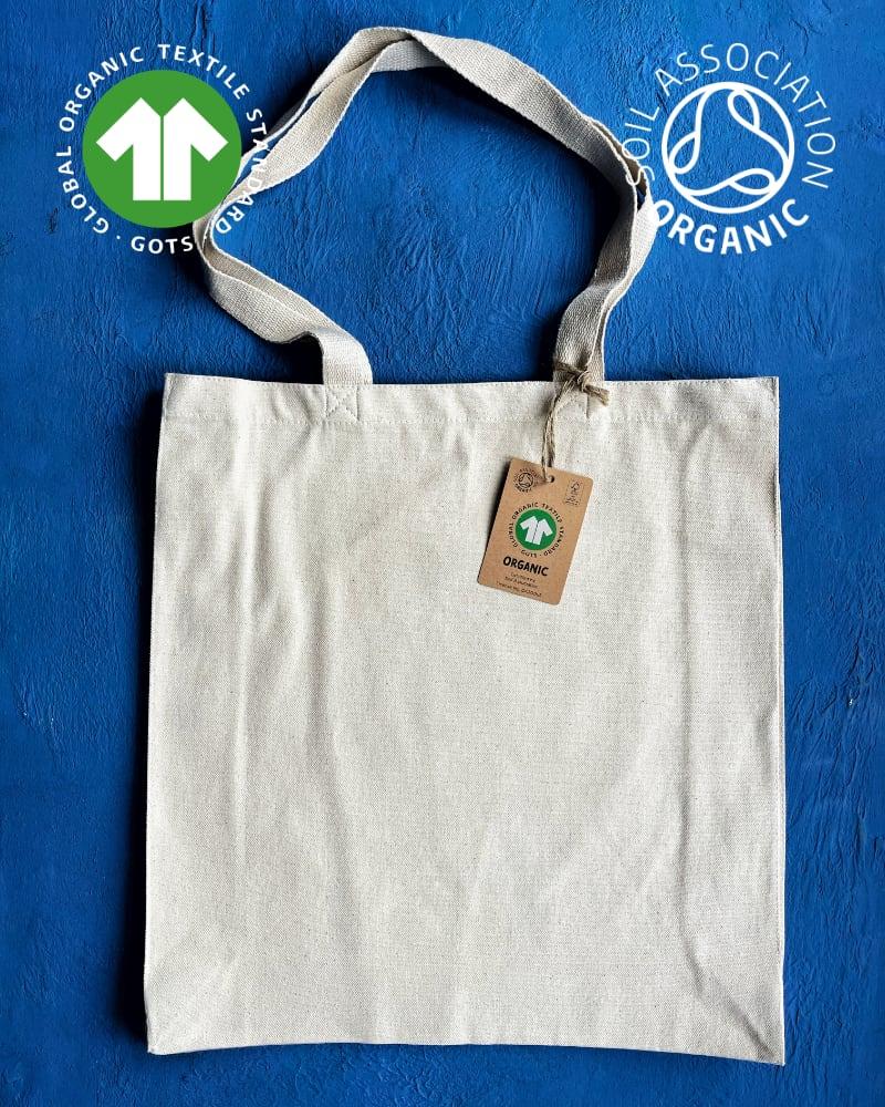 GOTS Organic 10oz Natural Canvas Bags – Portrait