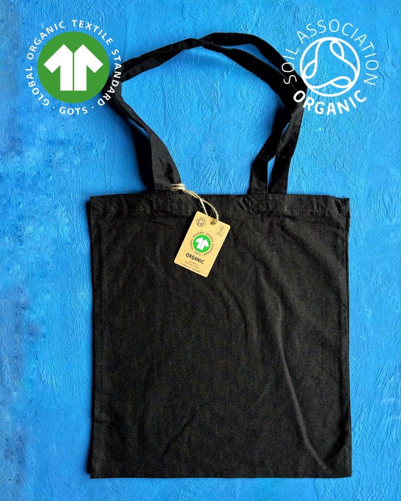 *NEW* GOTS ORGANIC 5oz Black Cotton Bags
