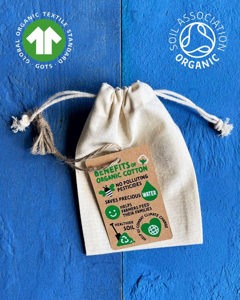 GOTS Organic Cotton Drawstring Bags