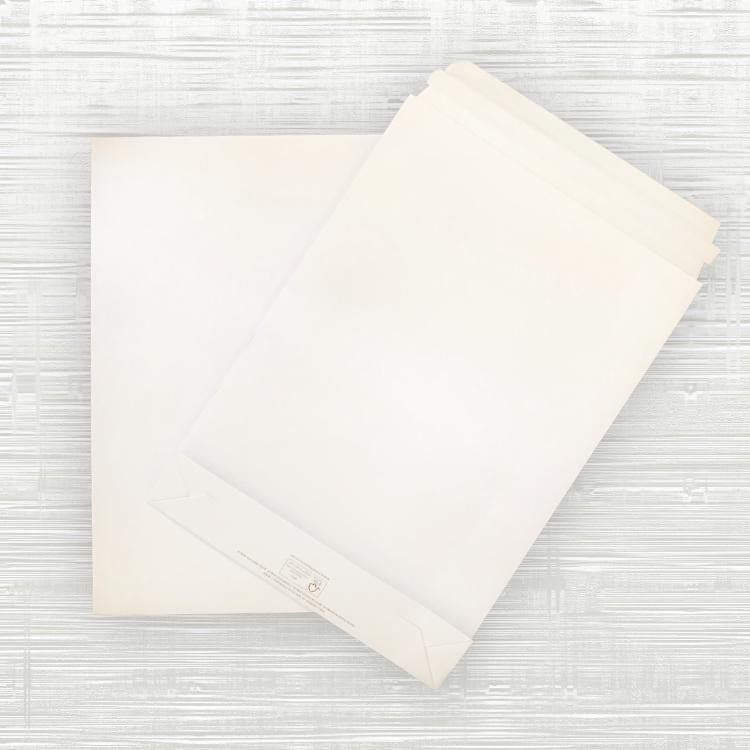 Medium Premium White Paper Mailing Bags – 250x50x350